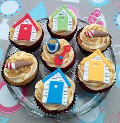 Beach themed Cupcakes.