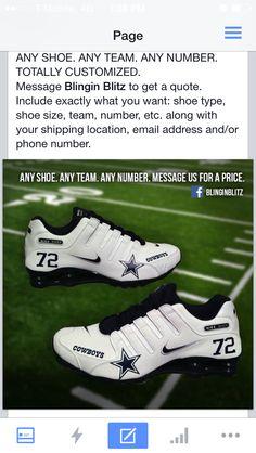 41601a99dfde0d Nike Dallas Cowboys player shoes.