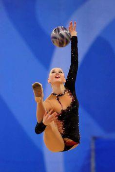 Alina Maksimenko (Ukraine) /World Cup 2013 in Pesaro...  #rhythmic #gymnastics #ball