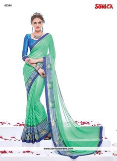 Link: http://www.sonicasarees.com/sarees?catalog=3767 Price range INR 2,496 Shipped worldwide within 7 days. Lowest price guaranteed.