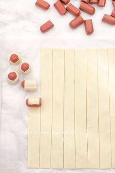 Arrotolare i wurstel - Ricetta Stella di Wurstel e pasta e sfoglia