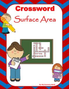 This crossword puzzle is a great way to help students continue to learn definitions and terminology of Surface Area to be successful.