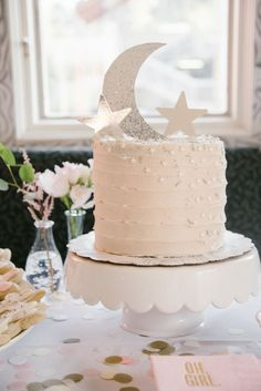 Image result for Moon & Stars Baby Shower Cakes