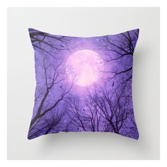 May It Be A Light (dark Forest Moon Ii) Throw Pillow ($20) ❤ liked on Polyvore featuring home, home decor and throw pillows