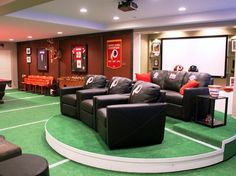 This is exactly what Garret would do to a mancave if he had enough space!!
