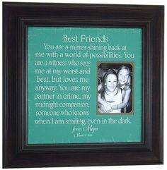 Picture framed with a quote