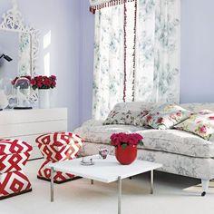 Lila Blumen Wohnzimmer Wohnideen Living Ideas Interiors Decoration