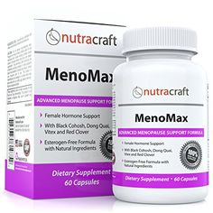 #1 Menopause Relief Supplement - Natural Herbal Menopausal Support Formula for Hot Flashes, Night Sweats, Vaginal Dryness and Mood Swings - With Black Cohosh, Dong Quai, Vitex, Sage, Soy, Red Clover and Wild Yam - 60 Capsules Nutracraft http://www.amazon.com/dp/B00RQDSGY6/ref=cm_sw_r_pi_dp_rZMwvb1J7KZ0B
