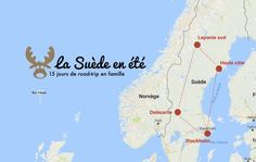 carte suede itineraire road trip