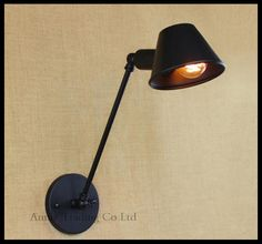 AC100-240V Retro Vintage Hat lamps Art Deco Wall sconces lamp industrial iron RH indoor signboard loft angle adjust wall lamp