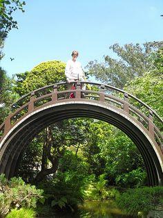 Photo of me at the Japanese Tea Garden in San Francisco