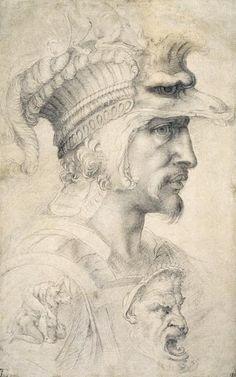 Michelangelo Buonarroti-Study of Warriors Head #TuscanyAgriturismoGiratola