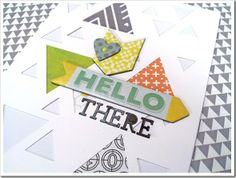 Wednesday with Ashley H. Hip Kit Club, Hexagon Pattern, Triangle, Shapes, Create, Store, Amazing, Projects, Cards