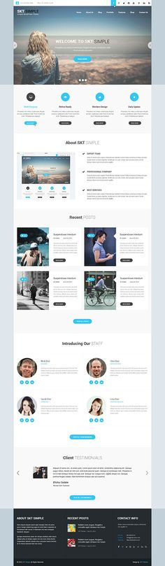 Responsive Simple WordPress Theme for simple easy websites SKT Themes