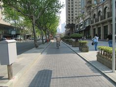 dedicated bicycle lanes in major areas of the city and car dominated streets