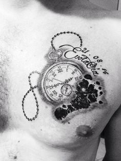 Image result for child clock tattoo