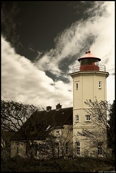 The lighthouse at Westermarkelsdorf, Fehmarn, Baltic Sea.by Crossie deviantart.com on @deviantART