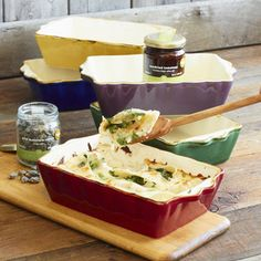 Italian baking dishes