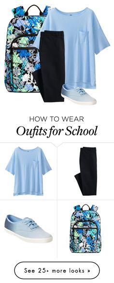 """Back to School"" by oliviamagic on Polyvore featuring Vera Bradley, Uniqlo, Canvas by Lands' End and Keds"