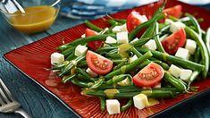 Sałatka z fasolki szparagowej i fety