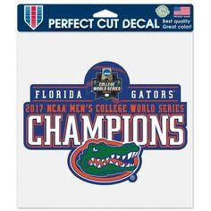 Florida Gators WinCraft 2017 NCAA Men's Baseball College World Series National Champions 8'' x 8'' Perfect Cut Decal