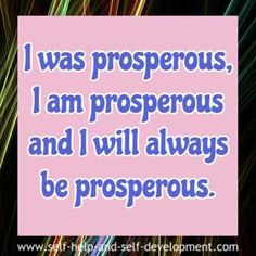 20 Abundance And Prosperity Affirmations To Help You Grow Rich.