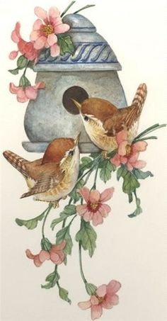 CShoresInc currently offers two types of original art: watercolors and lithographs by Carolyn Shores Wright and jewelry by Dianne V. Vintage Birds, Vintage Art, Watercolor Bird, Watercolor Paintings, China Painting, Bird Drawings, Bird Pictures, Bird Prints, Bird Art