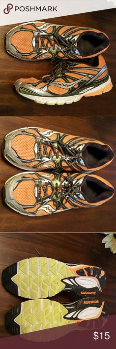 Saucony Mens Running shoes Saucony Mens Running shoes do show wear, especially on heal of the shoe sole,  in good condition. Saucony Shoes Athletic Shoes