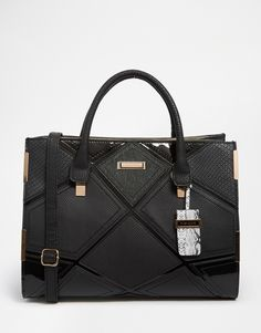BLACK PATCHWORK TOTE BAG                                                                                                                                                      Más
