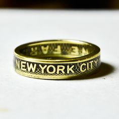 Hand made #NYC subway token #coin #ring from TheRingTree.
