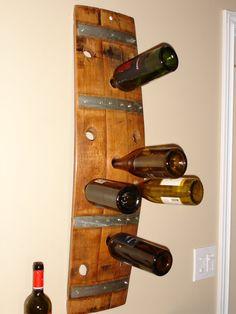 Vino barril madera estante del vino