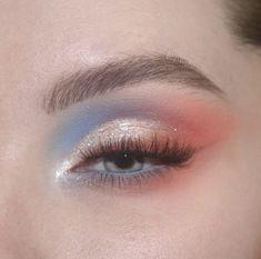 watercolor pastel dream 🌊💘✨☀️☁️ - wearing: colourpopcosmetics blue moon palette, baby got peach palette, prance creme gel liner, wild… Makeup Eye Looks, Creative Makeup Looks, Eye Makeup Art, Pretty Makeup, Eyeshadow Makeup, Eyeshadow Ideas, Gorgeous Makeup, Eyeshadows, Eyeshadow Palette