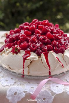 Merry Berry, Brunch, Pavlova, Amazing Cakes, Berries, Bakery, Cheesecake, Food And Drink, Cooking Recipes