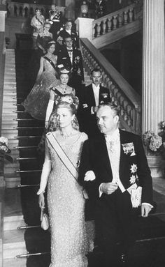 European Monarchies via graceandfamily:  front-Prince Rainier III and Princess Grace of Monaco, second row-Grand Duchess Charlotte and Grand Duke Jean of Luxembourg, then Princess Sofia of Greece and Prince Juan Carlos of Spain for the wedding in Athens of Sofia and Juan Carlos. Athens, Greece, May 1962.