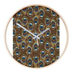 """This beautiful wood-framed wall clock has a birch finish for a modern and stylish look. Find the perfectly customized design and it's sure to look great with your This beautiful wood-framed wall clock has a birch finish for a modern and stylish look. Find the perfectly customized design and it's sure to look great with your décor. Plus, the oversized wall clock is easy to read and oh so timely. Birch wood finish 16"""" diameter"""