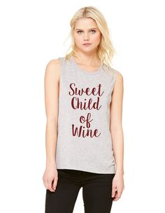 Sweet Child of Wine, muscle graphic tee by Blonde Laundry.
