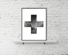 Swiss #cross #minimalist #print https://www.etsy.com/listing/232870373/swiss-cross-digital-print-scandinavian