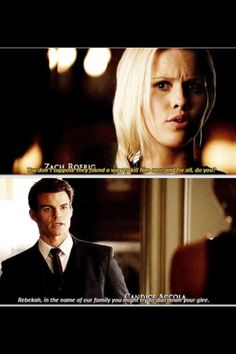 Elijah (Daniel Gillies) and Rebekah (Claire Holt) - The Originals