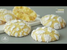 Soft Lemon Cookie Recipe, Lemon Cookies, Fun Cookies, No Bake Cookies, Top Recipes, Sweet Recipes, Asian Recipes, Cheesecake Recipes, Cookie Recipes