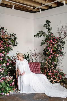 A stunning sneak peek at new gowns from the Karen Willis Holmes 2017 Bridal Collection. Karen Willis Holmes, Wedding Stage, Dream Wedding, Floral Wedding, Wedding Flowers, Wedding Dresses, Wedding Entertainment, Entertainment Ideas, Flower Installation