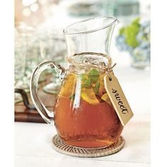 Southern Living Glass Iced Tea Pitcher - so pretty, I think I need this very soon