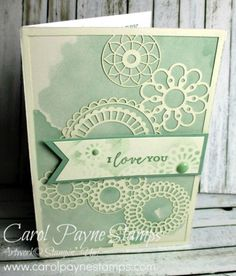 Stampin' Up! Delightfully Detailed Laser-Cut Designer Series Paper, coming in the new Annual Catalog on June 1st! I used a masking technique to add to the design. #diy #handmade #handmadecards #birthday #birthdaycard #papercraft #papercrafting #scrapbooking #rubberstamp #stampinup #carolpaynestamps