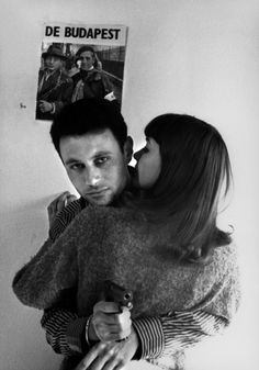 """Michel Subor, Anna Karina in """"Le petit soldat"""" Director: Jean-Luc Godard. Anna Karina, 1960s Movies, Jacques Demy, Francois Truffaut, French New Wave, French Movies, The Love Club, Jean Luc Godard, Film Serie"""