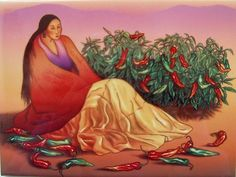 RC Gorman Chimayo Chili Ceramic Art Tile Southwest Gift Backsplash Art Tile | eBay