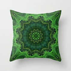 Harmony in Green Throw Pillow by Lyle Hatch - $20.00