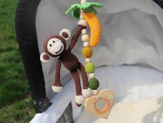 Singe et banane suspendus jouet, siège de voiture jouet, jouet poussette, jouet…