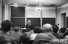 Like this picture of Einstein lecturing