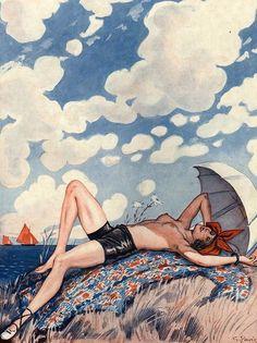 hoodoothatvoodoo:  Illustration by George Pavis For La Vie...
