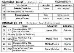Calendário de Palestras Públicas do SEAC – Novembro 2016 - Teresópolis - RJ - http://www.agendaespiritabrasil.com.br/2016/11/04/calendario-de-palestras-publicas-do-seac-novembro-2016-teresopolis-rj/