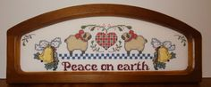 New Christmas Peace On Earth Sheep Framed Picture Finished Cross Stitch Handmade #Handmade